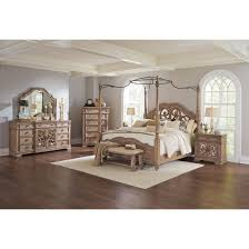 coaster ilana poster bedroom set in antique linen