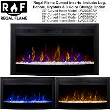 Electric Fireplace Insert 33 Inch Curved Ventless Heater Electric Fireplace Insert