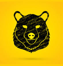 sketch of a bear face bear head front royalty free vector