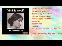 virginia woolf une chambre à soi une chambre à soi livre audio gratuit