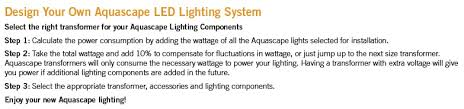 Aquascape Led Lighting Transformers Splitters Cable And Photocells