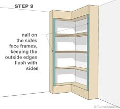 Woodworking Plans Corner Bookcase by Plans For A Corner Bookcase