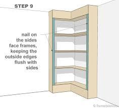 plans for a corner bookcase