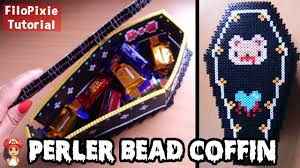 perler bead coffin treat box halloween tutorial youtube