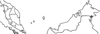Map Of Malaysia Malaysia Map Silhouette