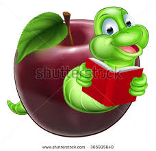 free cartoon bookworm in library download free vector art stock