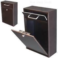 digital key lock box wall mount mailbox with lock ebay
