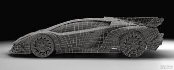 Lamborghini Veneno Model - lamborghini veneo wireframe hard surface modeling art of