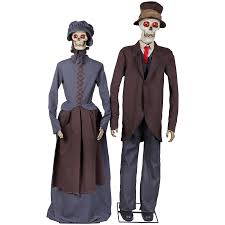 shop holiday living animatronic pre lit musical skeleton couple
