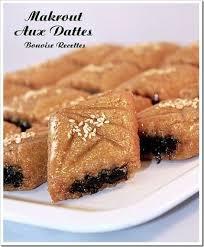 bonoise cuisine makrout aux dattes un gâteau algérien bonoise recettes de