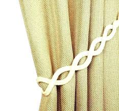 Rope Tiebacks For Curtains Curtain Rope Tie Backs Bothrametals