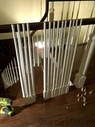Definition Banister Upstairs Hallway 2 Hardwood Spindles