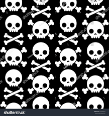 halloween seamless background skull crossbones seamless pattern scary halloween stock vector