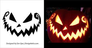 5 free scary halloween pumpkin carving patterns stencils u0026 ideas