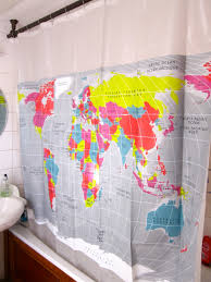 Target World Map by Bathroom Makeover Your Bathroom With World Map Shower Curtain