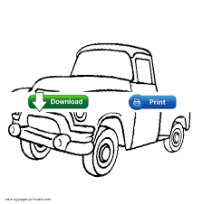 old pickup truck coloring pages
