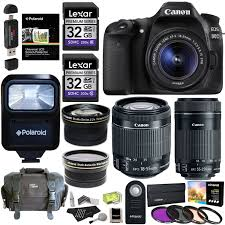 canon eos 80d camera with two lens kit and bonus items