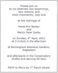 informal wedding invitation wording informal wedding invitation wording from and groom