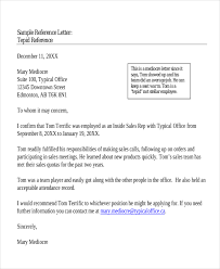 ideas collection reference letter work colleague with template