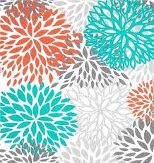 Gray And Teal Shower Curtain Teal And Orange Shower Curtain Mesmerizing Teal And Orange