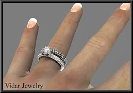 black diamond wedding sets black and white wedding ring sets black and white diamond wedding