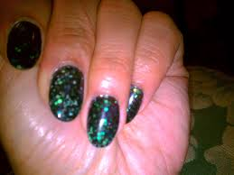 yummy411 get it here green glitter acrylic and review