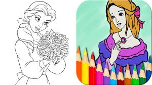 princess coloring book draw paint u0026 color games tabtale
