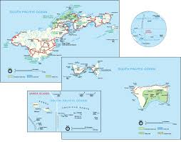 large detailed political map of american samoa with cities and