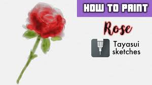 how to watercolor digital painting of a rose tayasui sketches