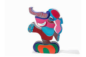 karel appel elephant painted wood 1978 painted wood