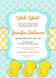 baby shower invites free templates designs free personalized duck baby shower invitations with