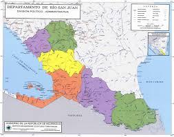 san juan map san juan department administrative political map nicaragua