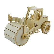 bohs wooden 3d vehicles puzzle diy car dump truck lorry forklift