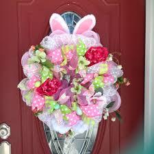 easter wreath easter bunny wreath bunny wreath spring bunny