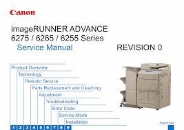 canon imagerunner ir 6255 6265 6275 i service manual