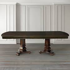 double pedestal dining table with leaf with design hd pictures