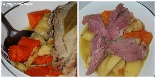 cuisiner palette demi sel potée à la palette de porc demi sel et ses légumes la page