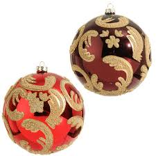And Gold Glass Ornaments Raz Ornament In And Burgundy