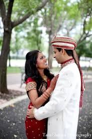 indian wedding bride groom couple portraits in jersey city new