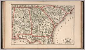 County Map Of Florida by New Rail Road And County Map Of Alabama Georgia South Carolina