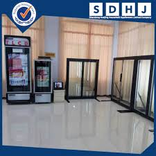 transparent lcd glass door refrigerator commercial advertising