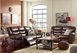 Contemporary Reclining Sofa With Topstitch by Joshua Contemporary Reclining Living Room Furniture Collection
