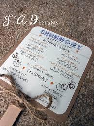 rustic wedding program fans printable country western rustic wedding by 1stimpressioninvites
