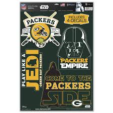 green bay packers star wars decal sheet at the packers pro shop