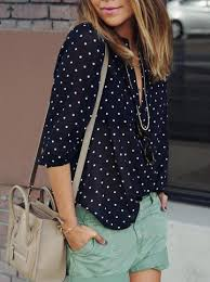 black polka dot blouse polka dot black and white blouse lyfie