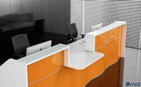 2 Person Reception Desk Reception Desk Reception Desk Wave Mdd