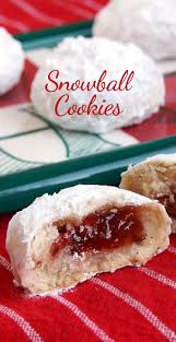jam filled snowball chirstmas cookies snowball cookies snowball