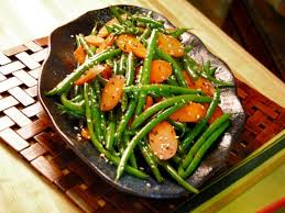 carrot and sesame green beans recipes cooking channel