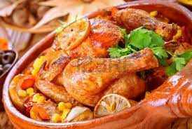 traditional baked chicken for thanksgiving day whole