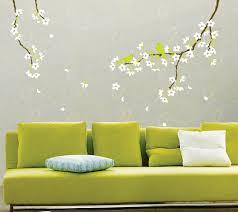 Home Decoration Wall Stickers Reusable Decoration Wall Sticker Decal Spring Flowers And Birds